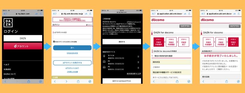 DAZN for docomo解約手順
